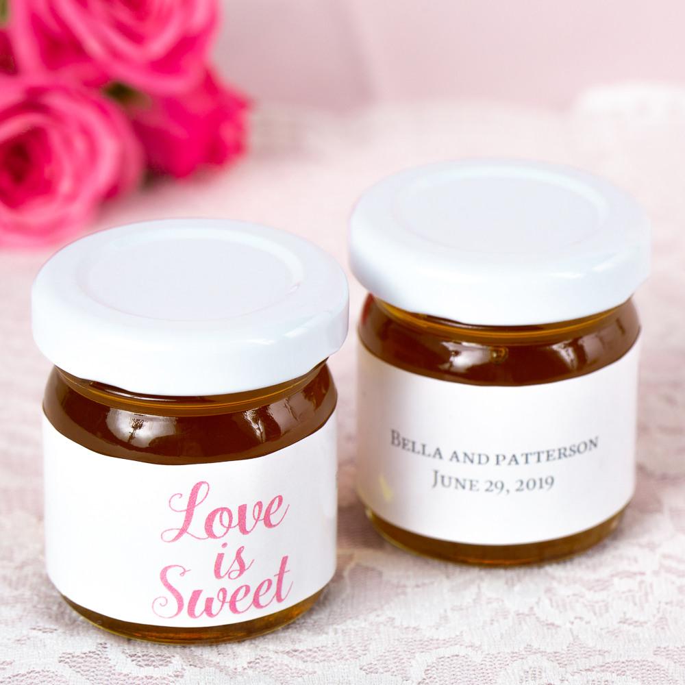 Personalized Love is Sweet Wedding Honey Jars