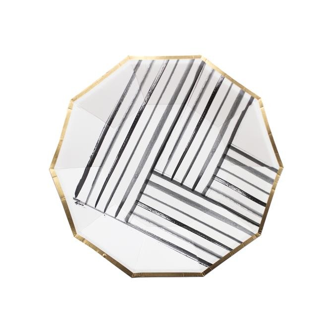 Brush Strokes Small Paper Plates 11206