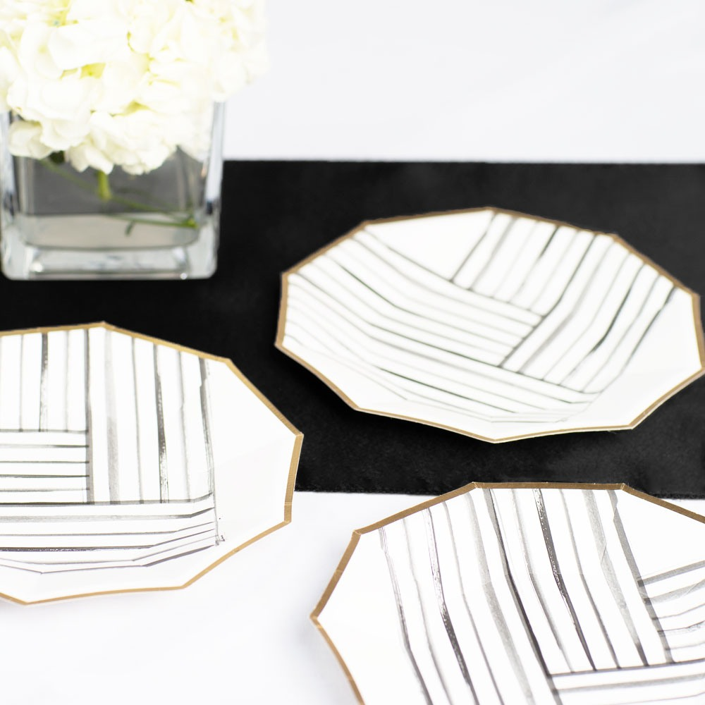 Brush Strokes Small Paper Plate