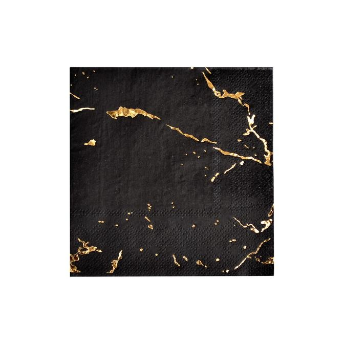 Black Marble Cocktail Paper Napkins 11207
