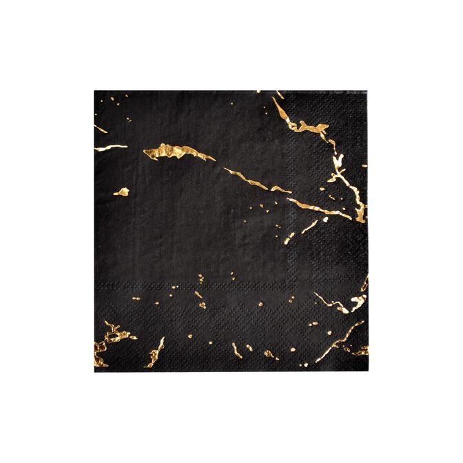 Black Marble Cocktail Paper Napkins 11207