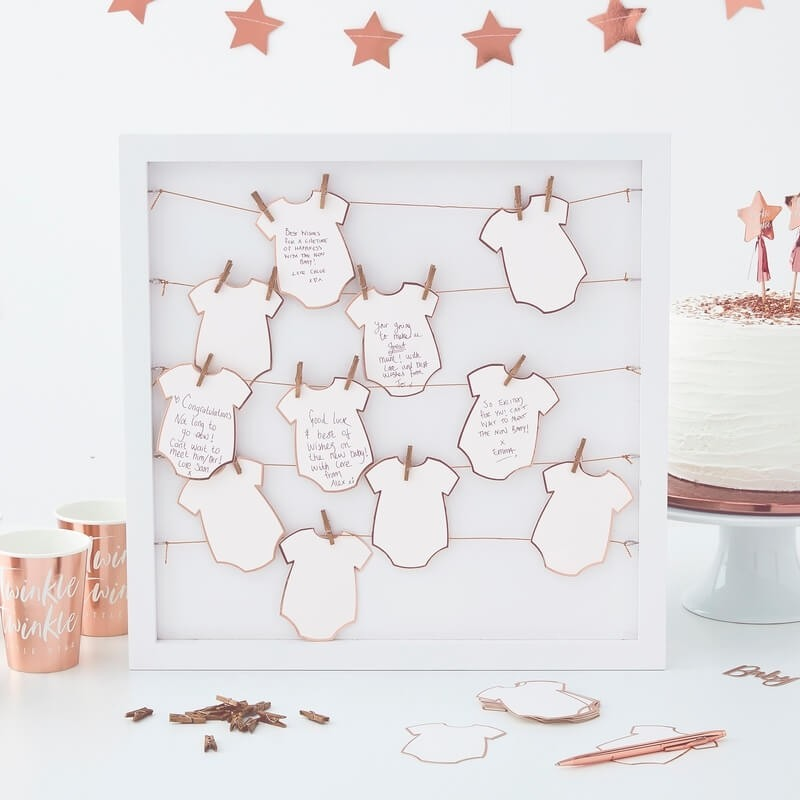 Baby Clothespin Frame Guest Book 11246