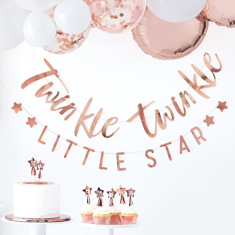 Rose Gold Twinkle Twinkle Banner 11249