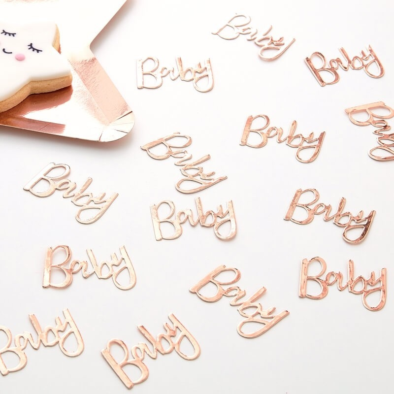 Rose Gold Baby Table Confetti 11250