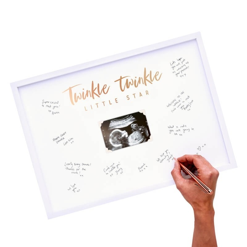Baby Shower Signing Frame Guest Book 2