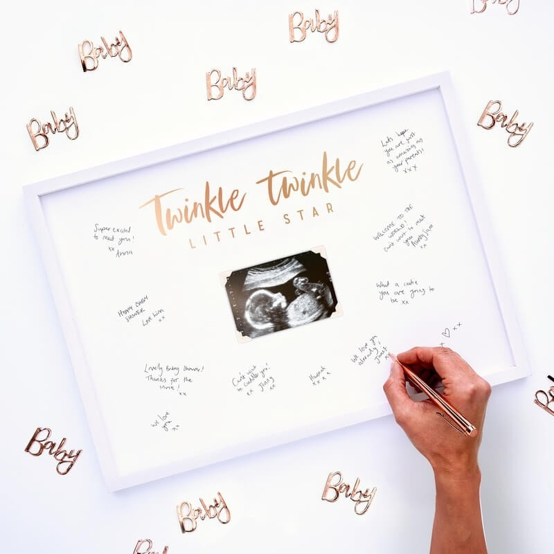 Baby Shower Signing Frame Guest Book 11261