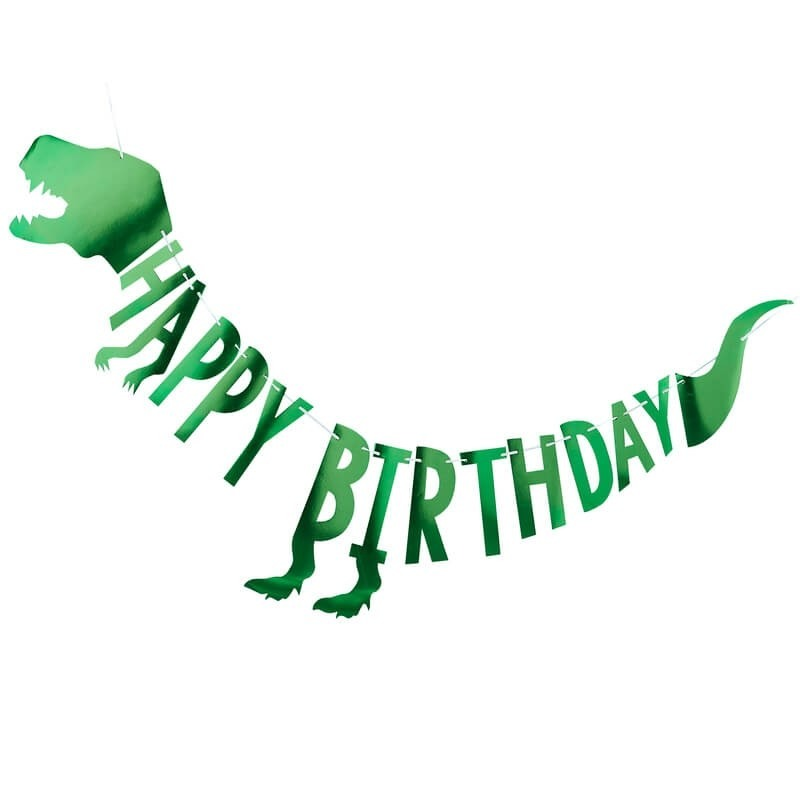Dinosaur Party Happy Birthday Bunting