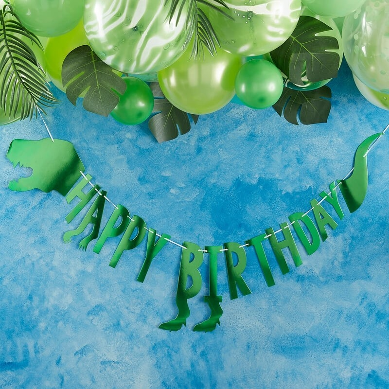 Dinosaur Happy Birthday Banner 11264