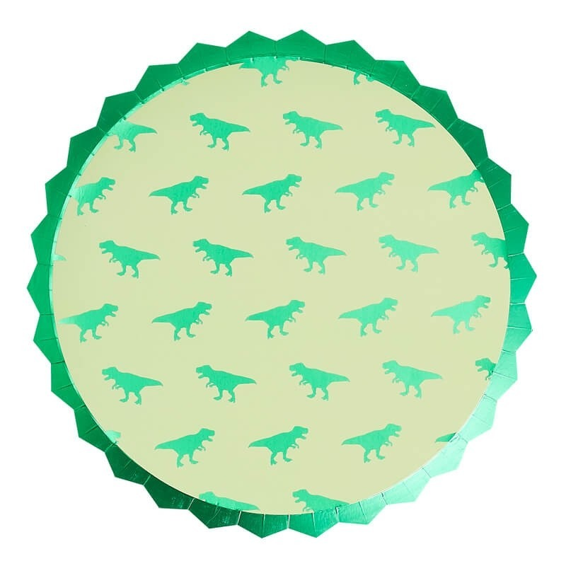 Foiled Dinosaur Paper Party Plate