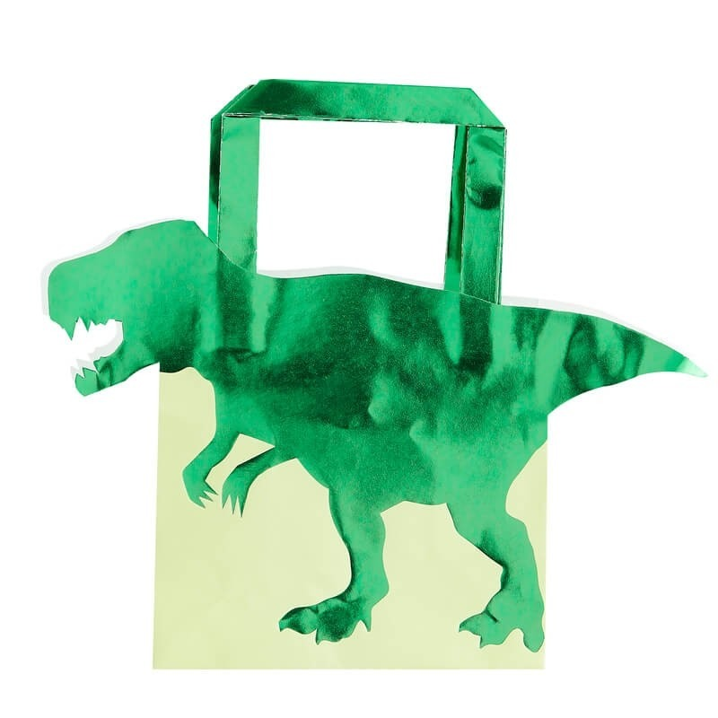 Foiled Dinosaur Shaped Party Bags