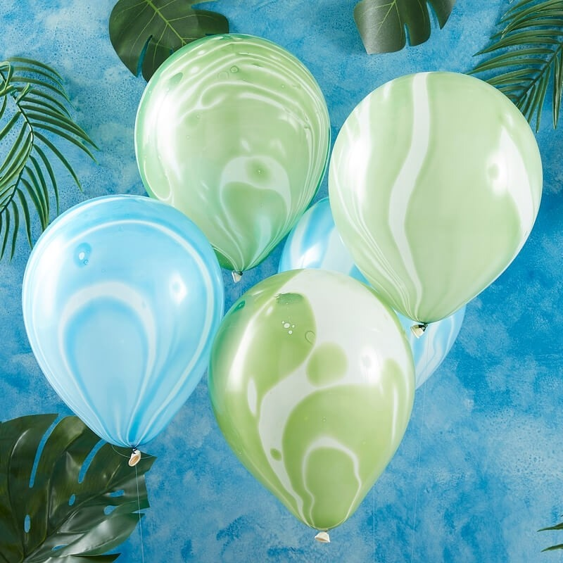 Green And Blue Marble Balloons 11269