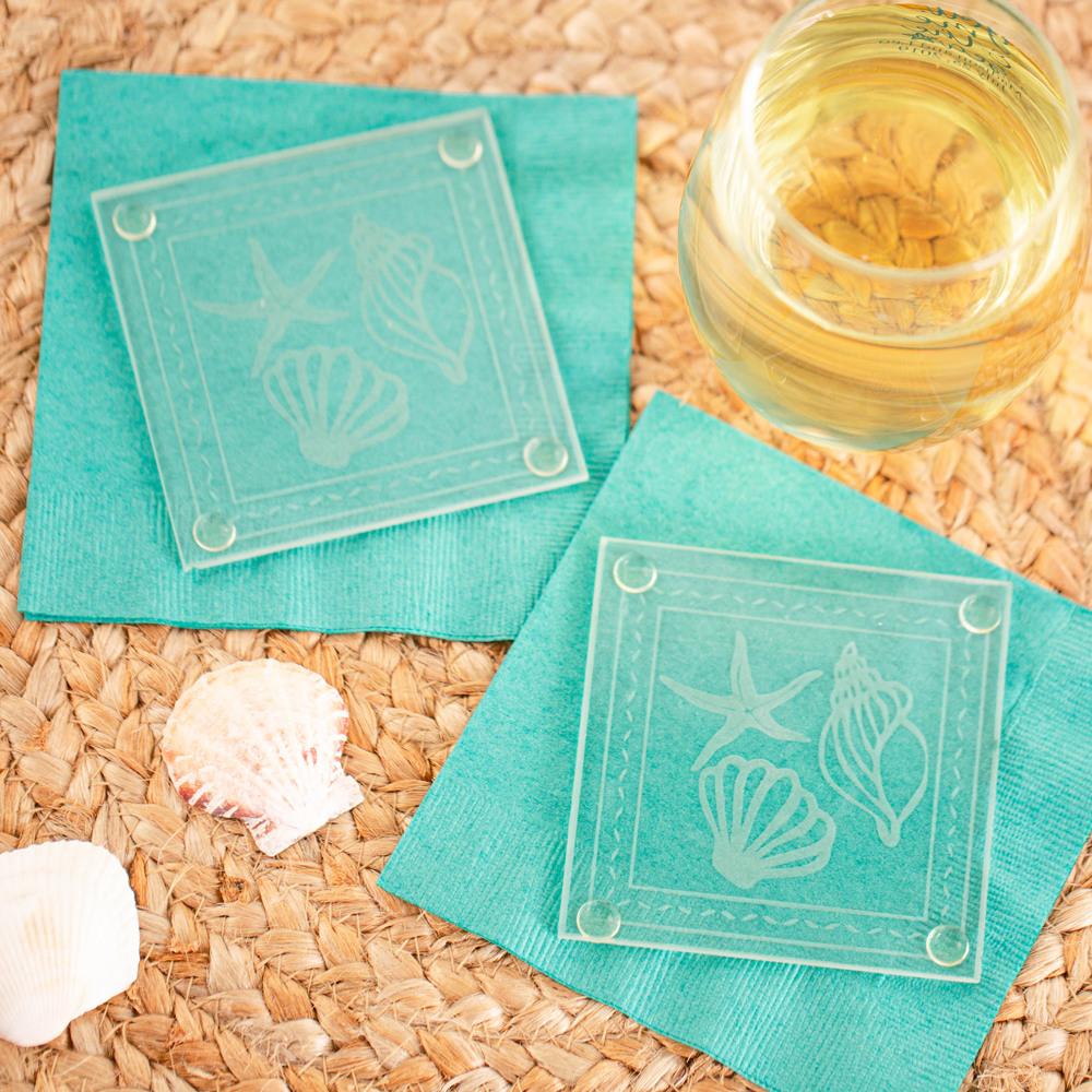 Seashell Glass Coaster