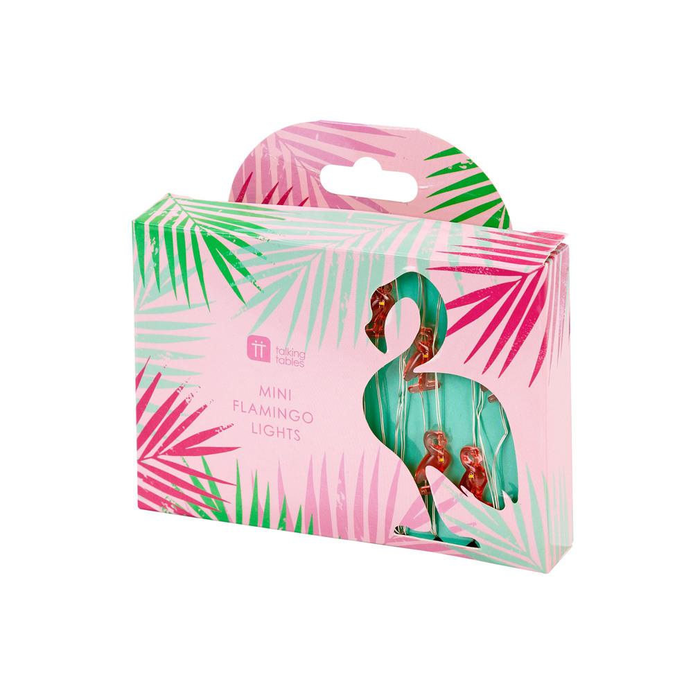 Mini Flamingo Lights packaging