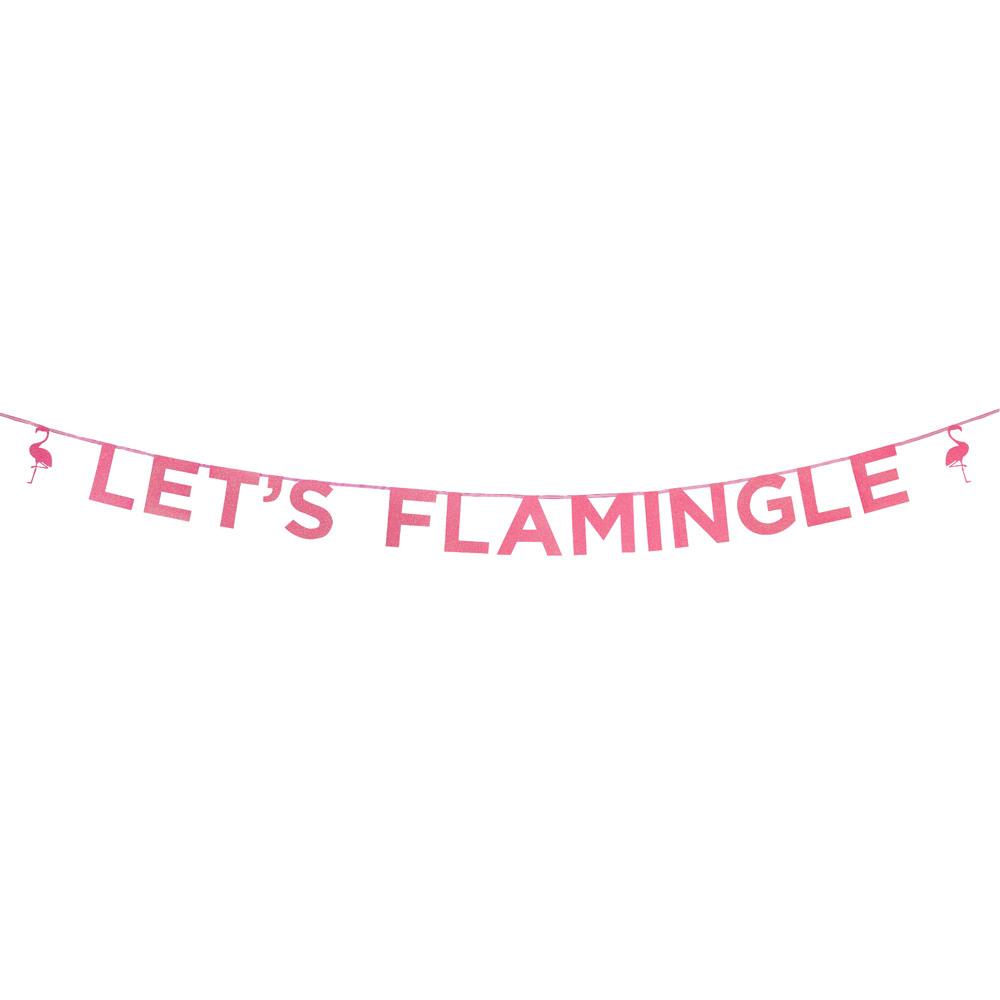 Let'S Flamingle Glitter Banner 11282
