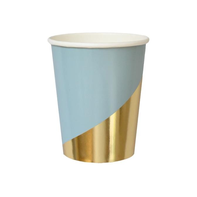 Blue Colorblock Paper Cups 11286