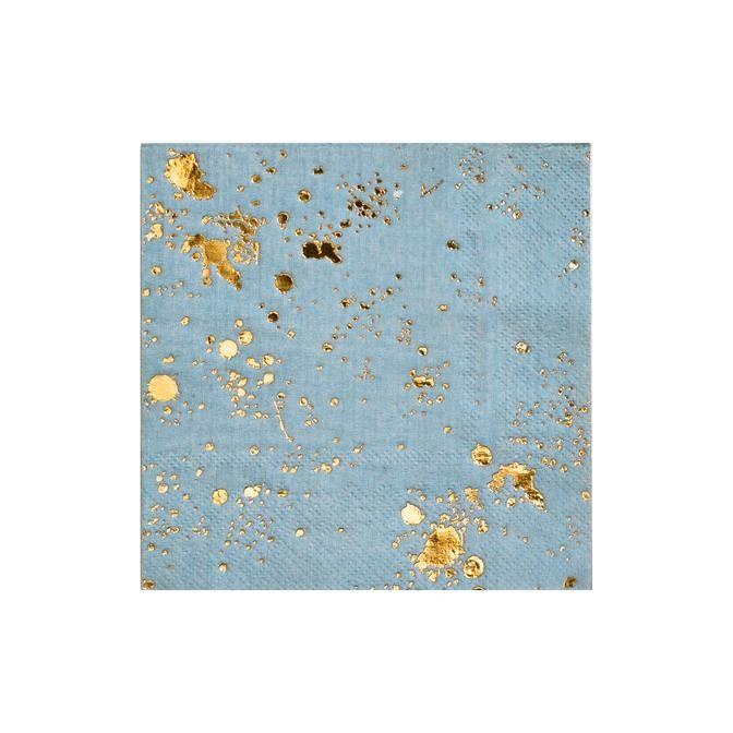 Blue Splash Cocktail Paper Napkins 11287