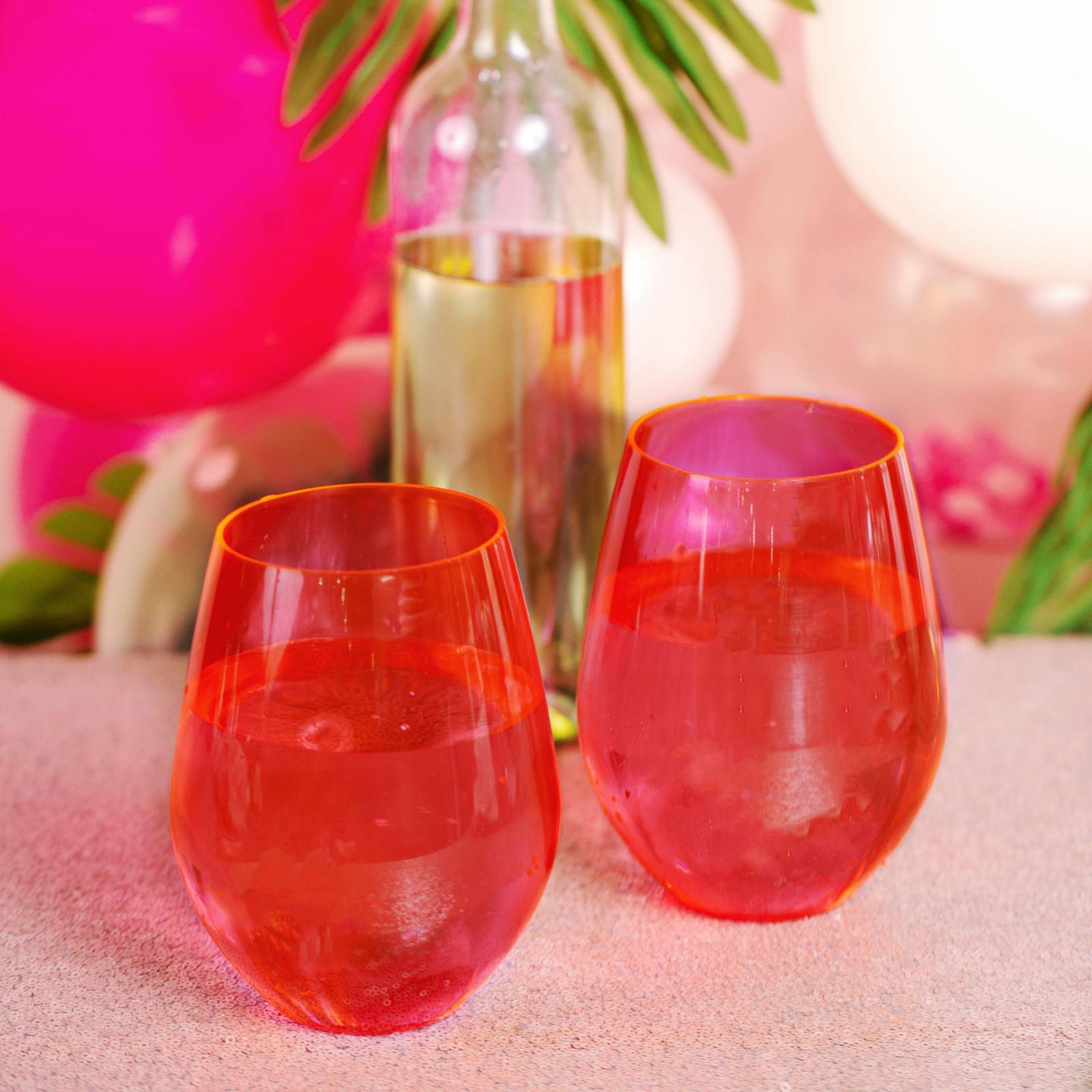 Jumbo Acrylic Stemless Wine Glass 11306