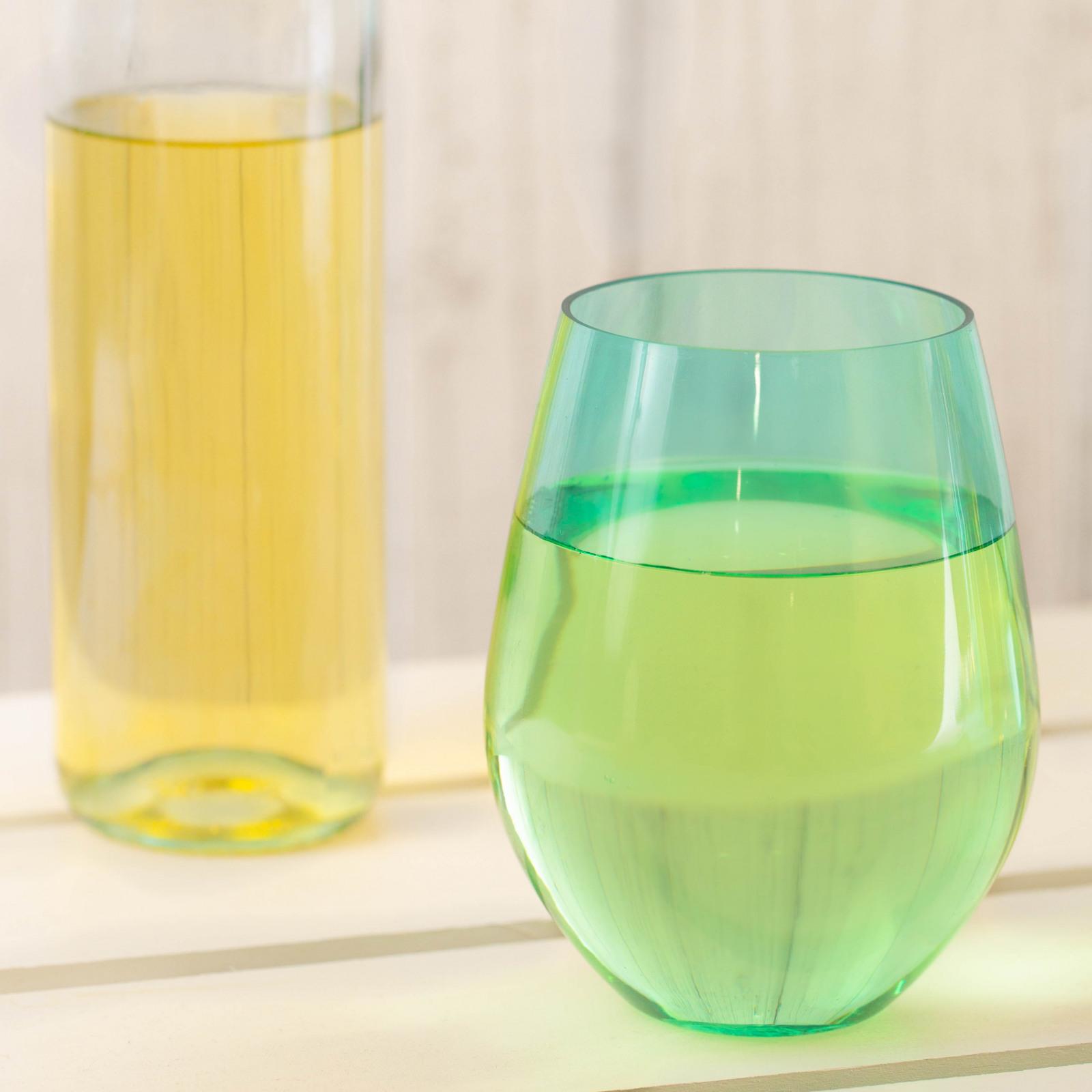 Jumbo Acrylic Stemless Wine Glass You Me & the Sea