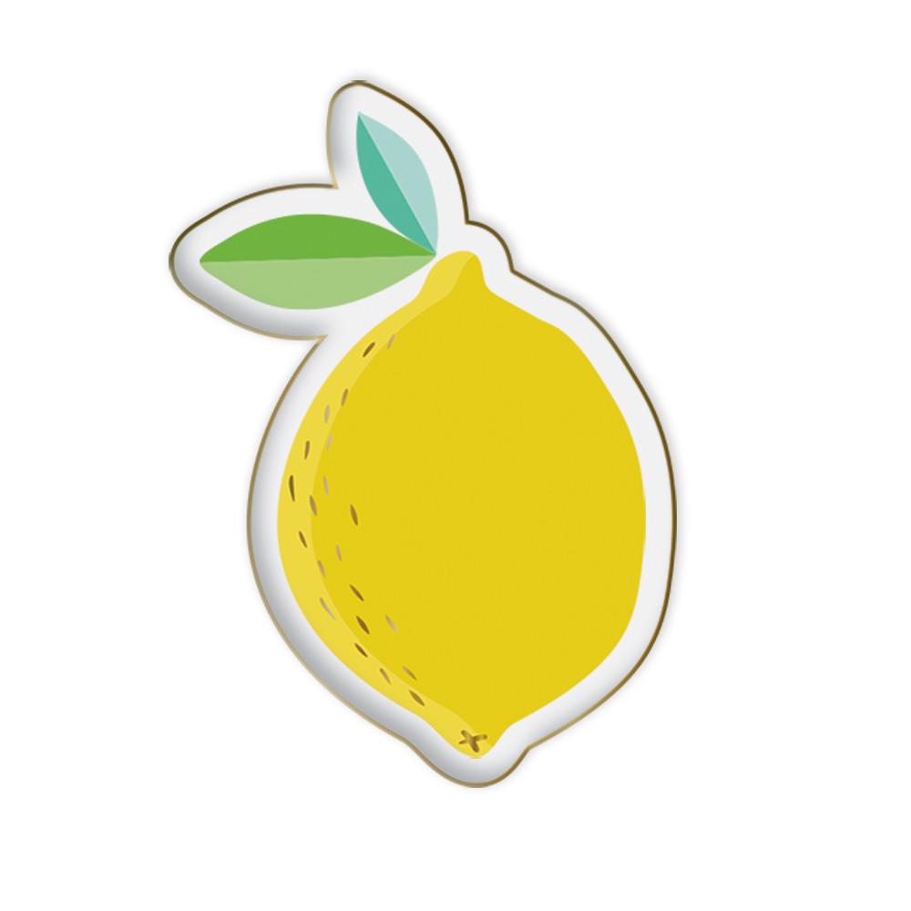 Lemon Shaped Ceramic Trinket Tray