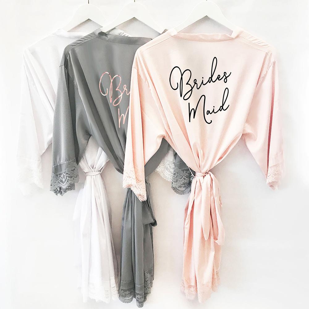 Bridal Satin Lace Robes