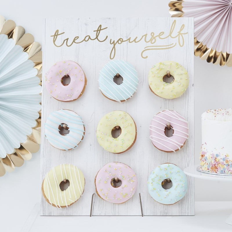 Rustic Treat Yourself Donut Wall 11394