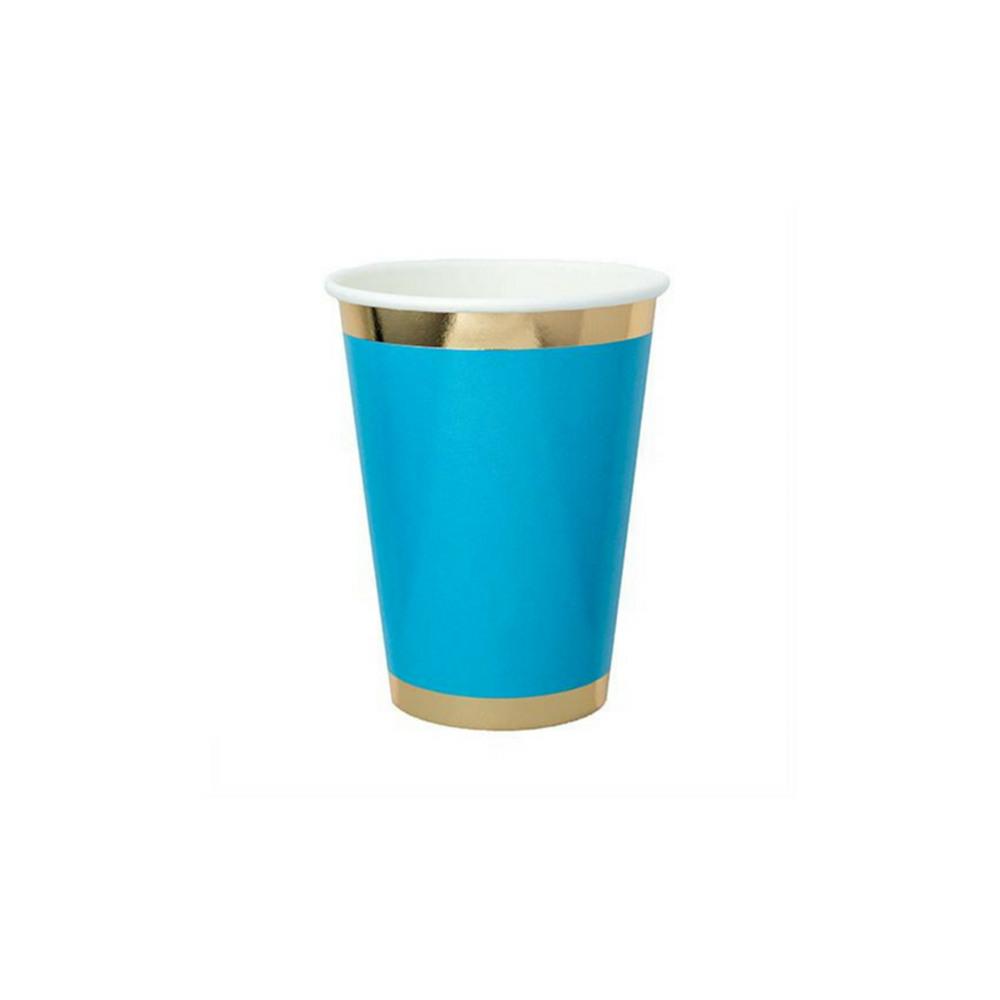 Posh Paper Cups blue