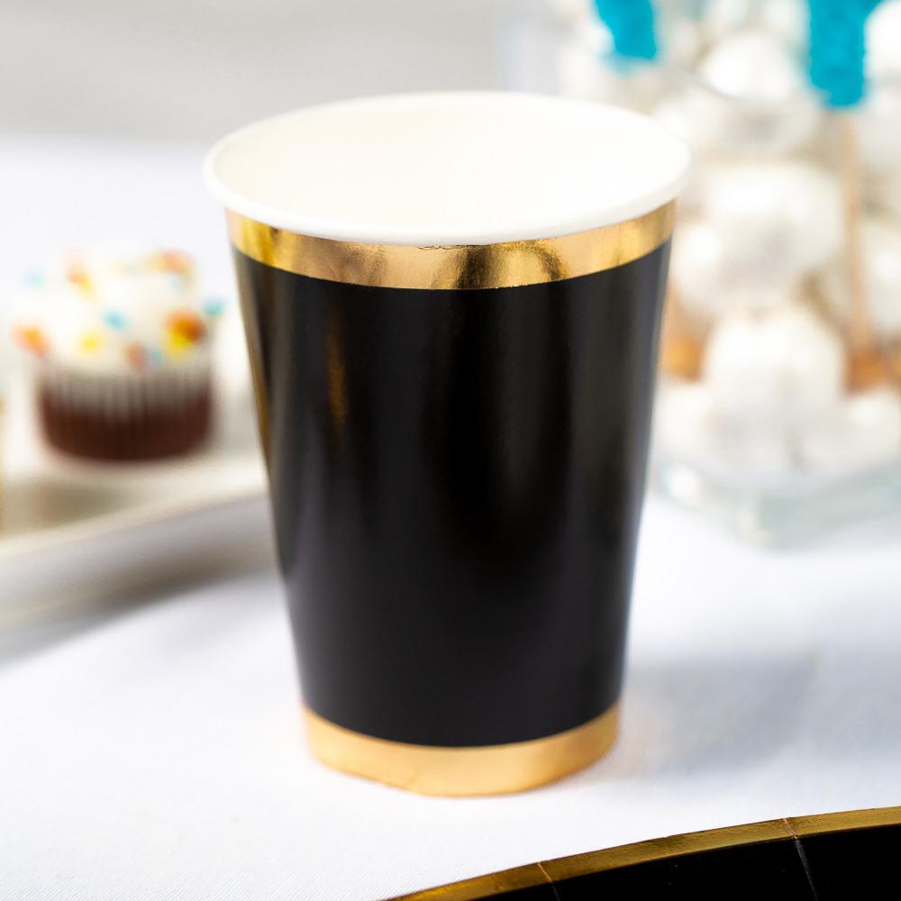Posh Paper Cups black oh boy