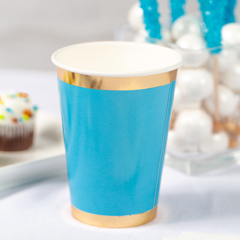Posh Paper Cups blue oh  boy