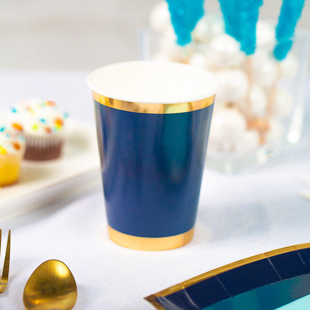 Posh Paper Cups navy oh boy