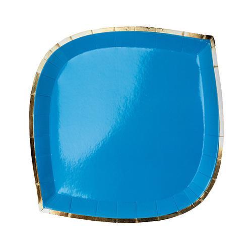 Posh Dessert Plate Blue