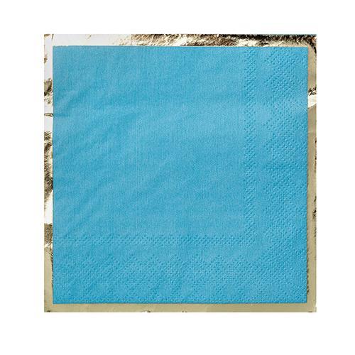 Posh Cocktail Napkin blue
