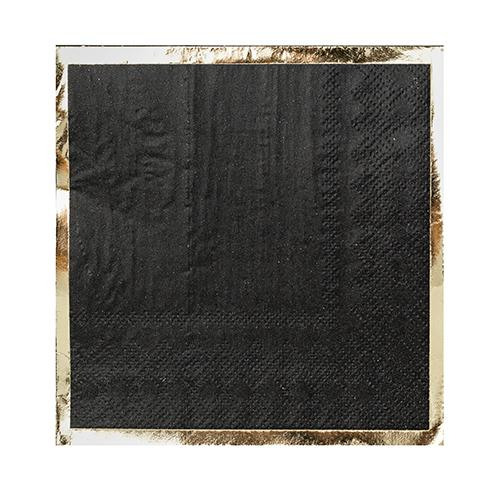 Posh Cocktail Napkin black
