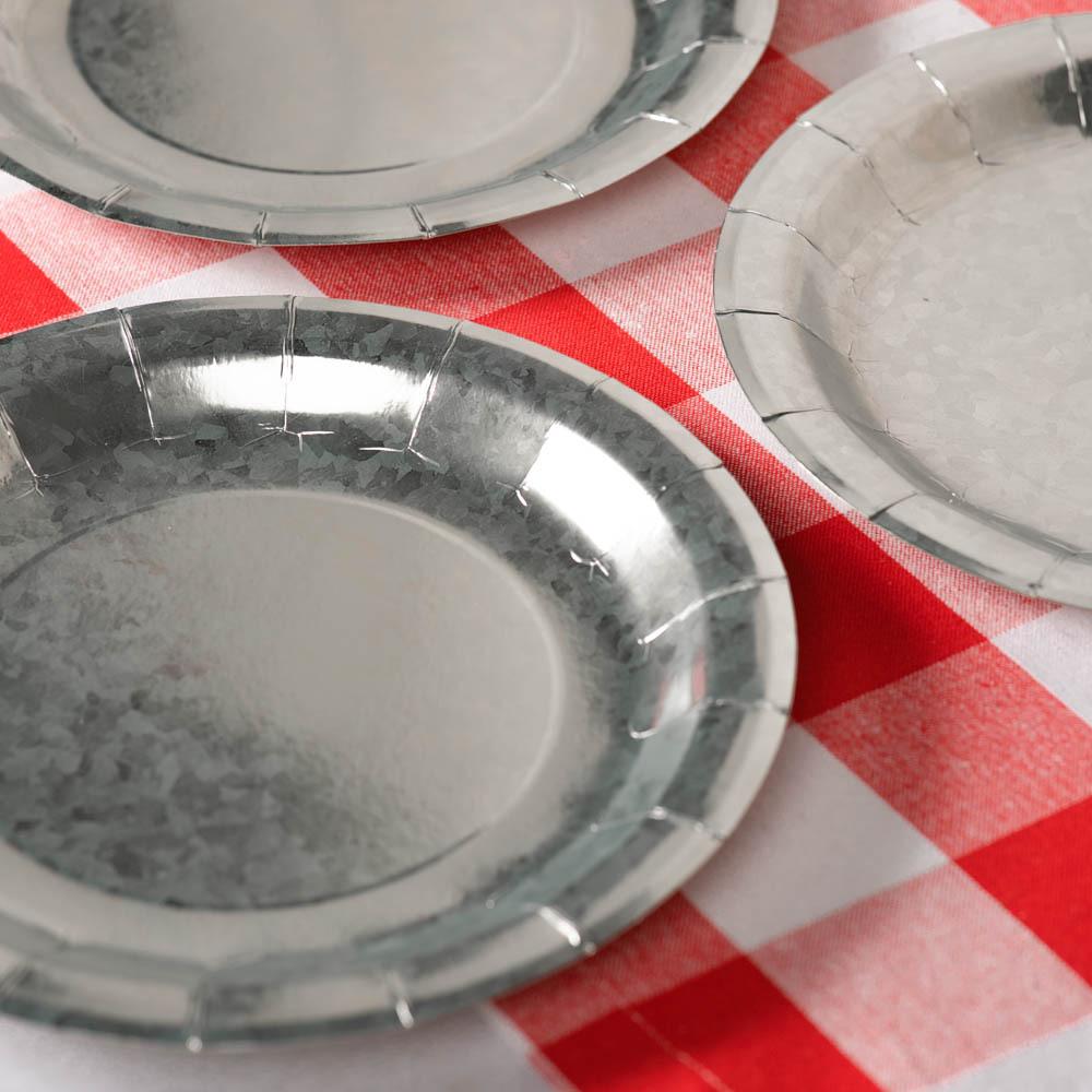 Galvanized Paper Plates 11466