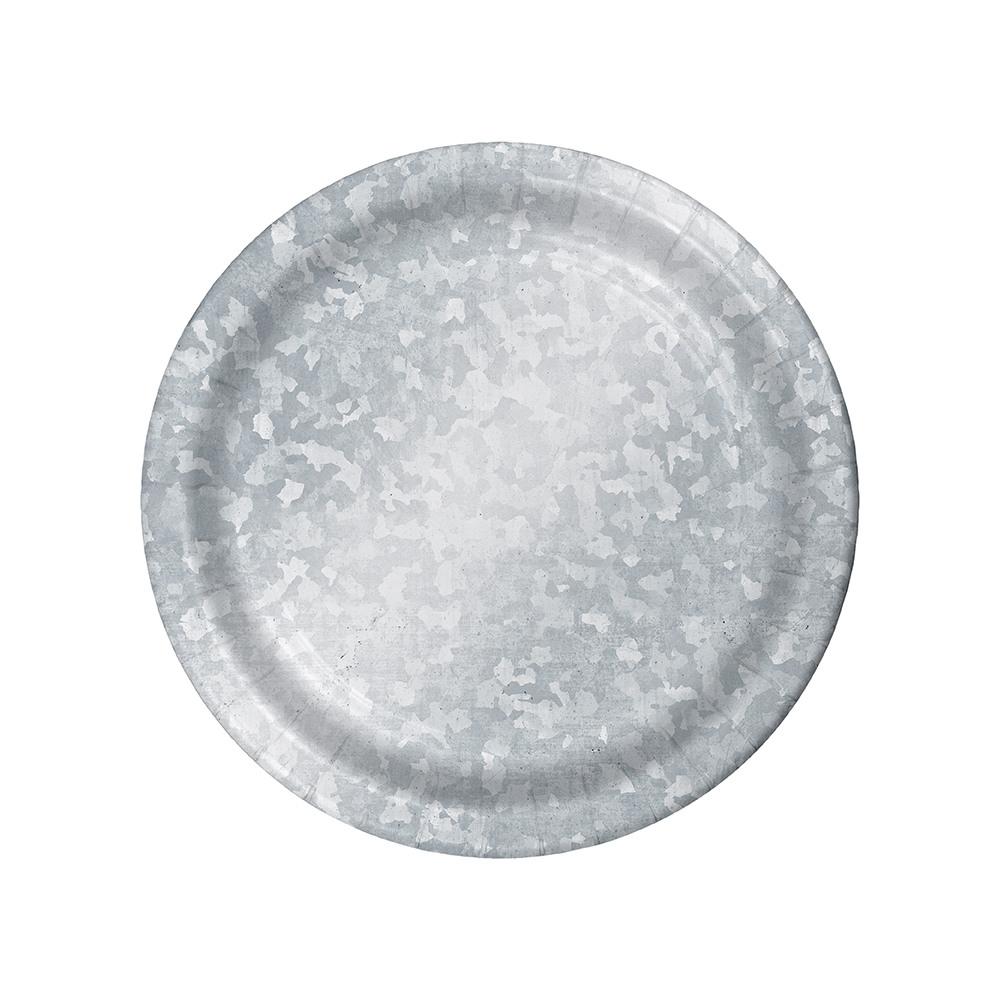 Galvanized Paper Luncheon Plates 11467