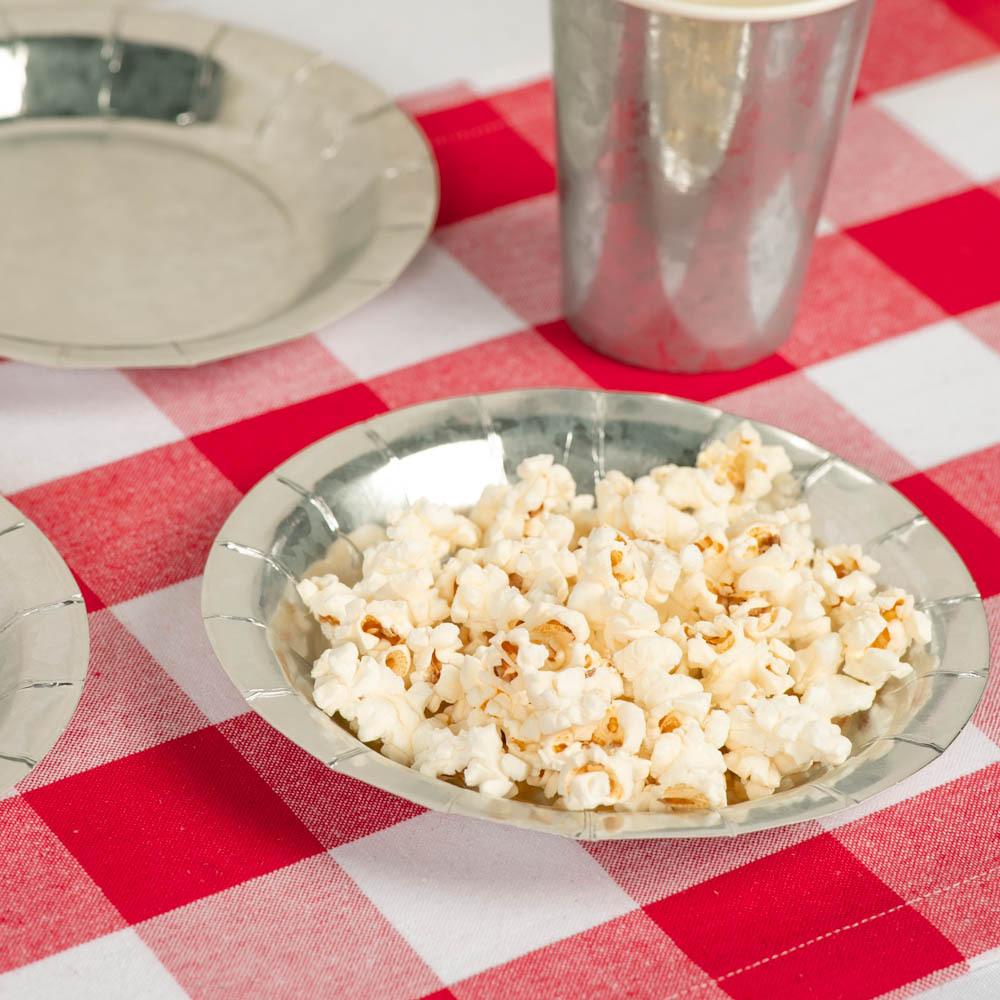 Galvanized Paper Luncheon Plates baby-q
