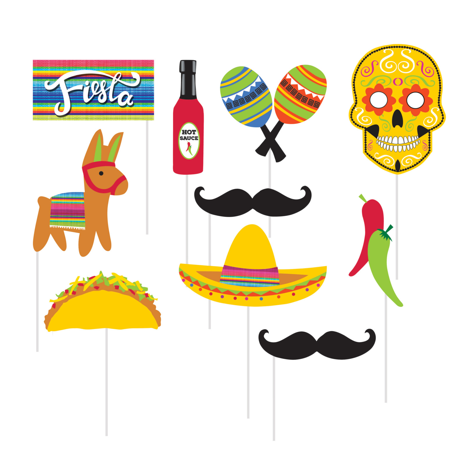 Fiesta Photo Booth Props 11472