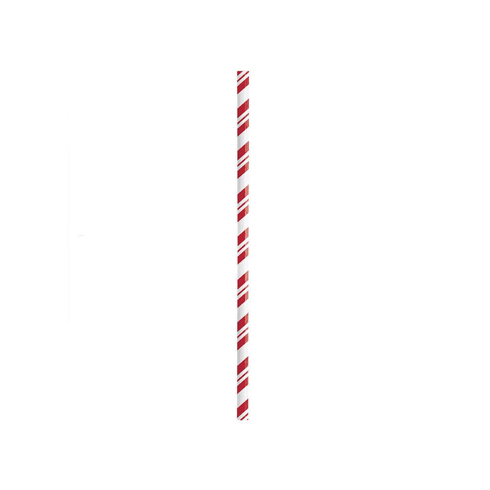Striped Red & White Classic Straws