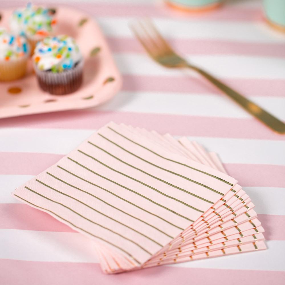 Pastel Stripe Cocktail Napkins 11485