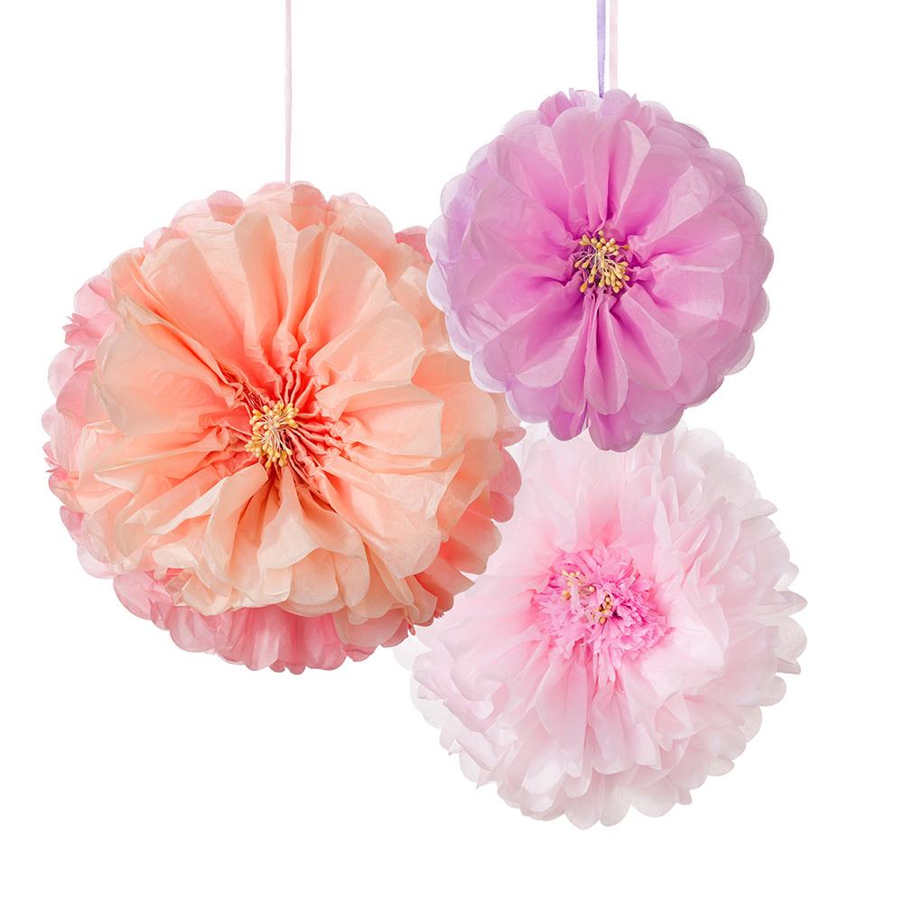 Decadent Decs Blush Flower Pom all colors