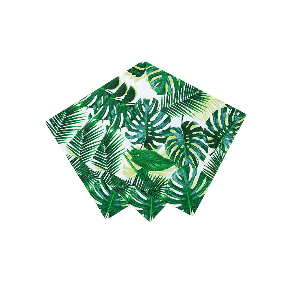 Tropical Fiesta Palm Leaf Cocktail Napkin 2