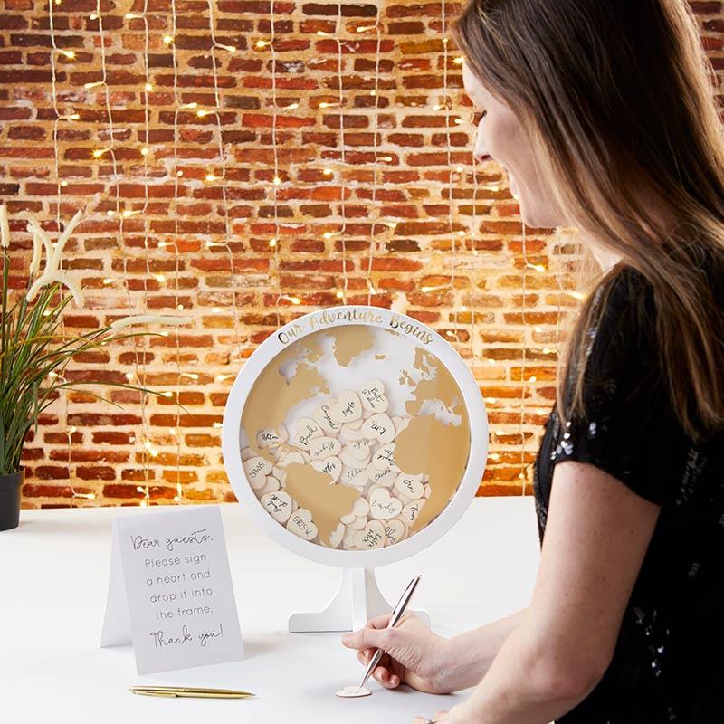 Alternative Guestbook Globe Person