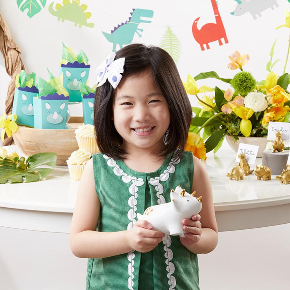 Dino Ceramic Planter with kid