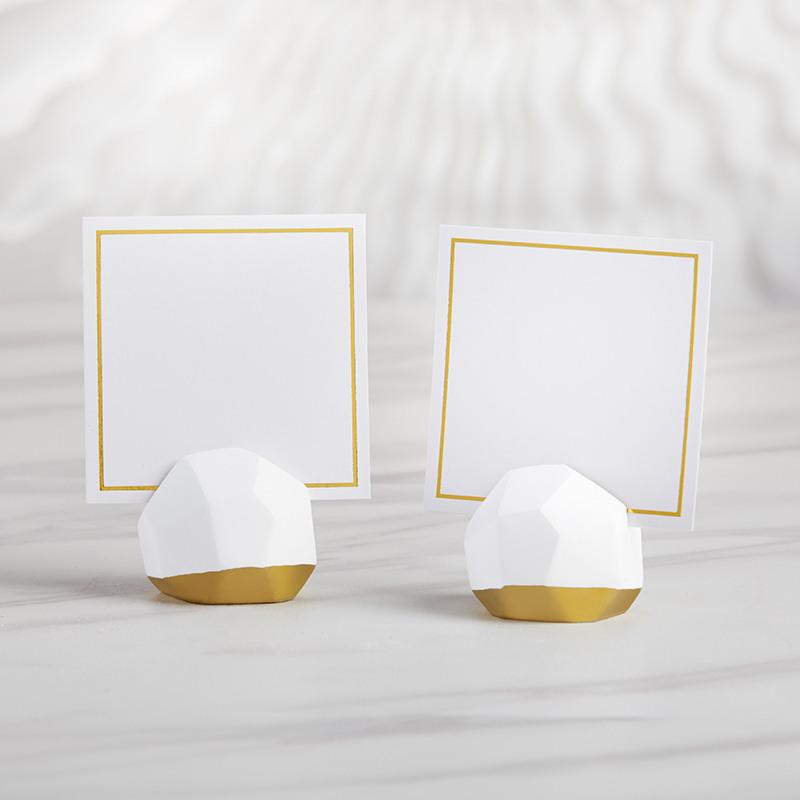 Geo Ceramic Place Card Holders 11527