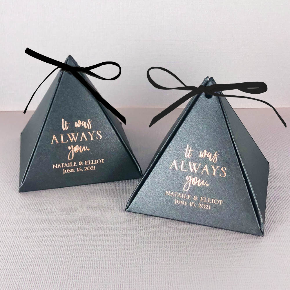 Personalized It was Always You Pyramid Favor Boxes