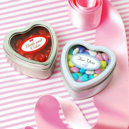 Heart Shaped Favor Tins 1162