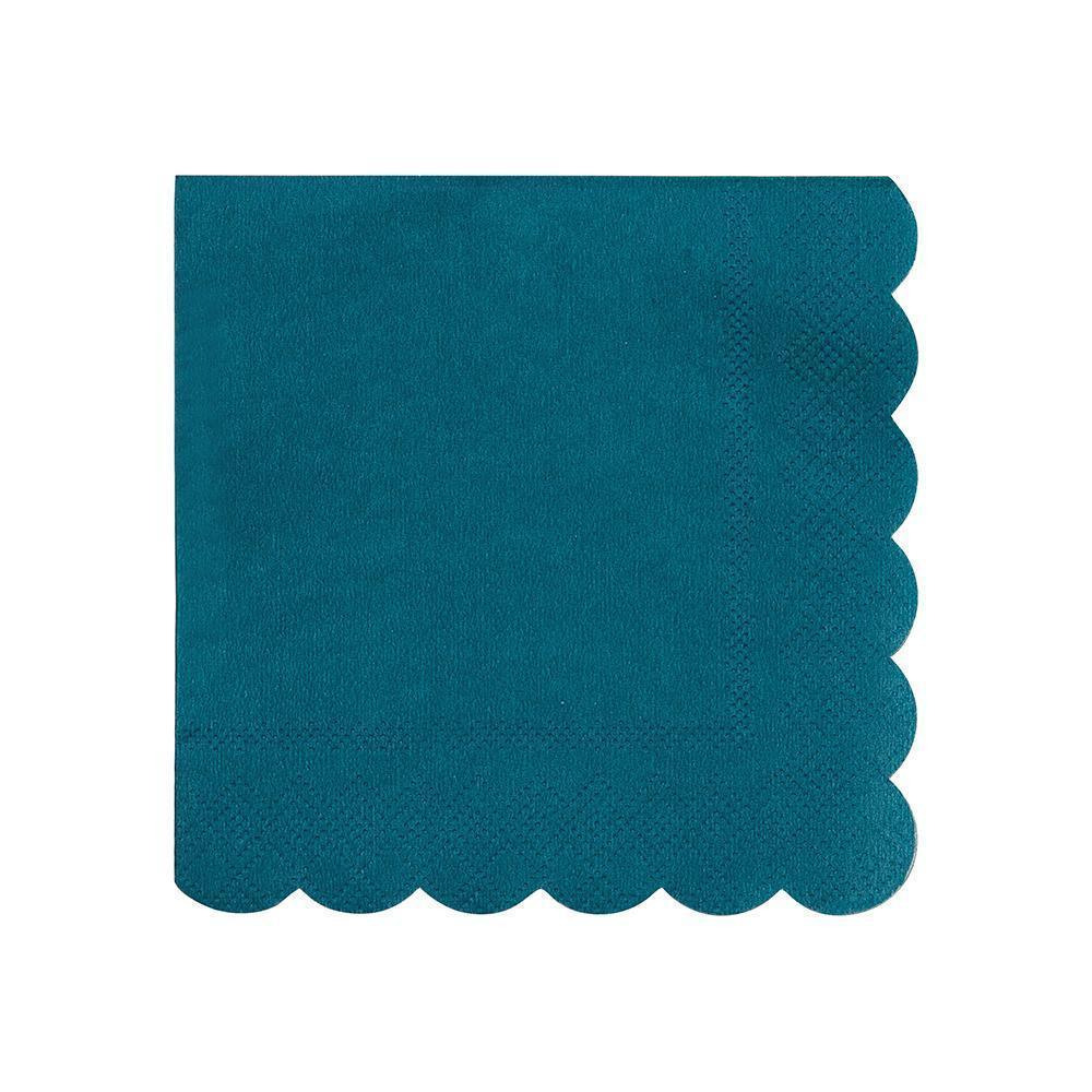 Dark Teal Cocktail Napkins