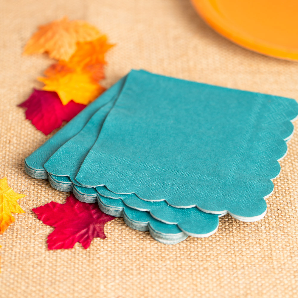 Dark Teal Cocktail Napkins 11656