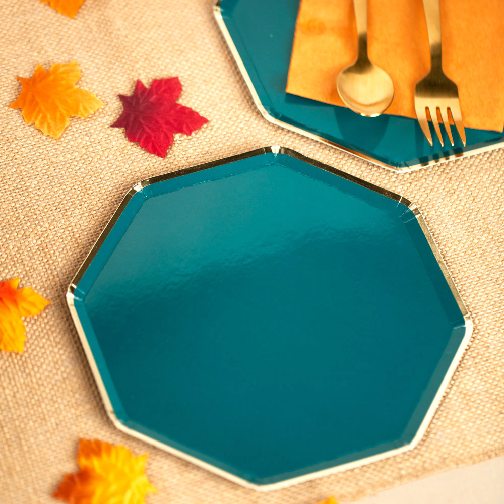 Dark Teal Cocktail Plates 11659