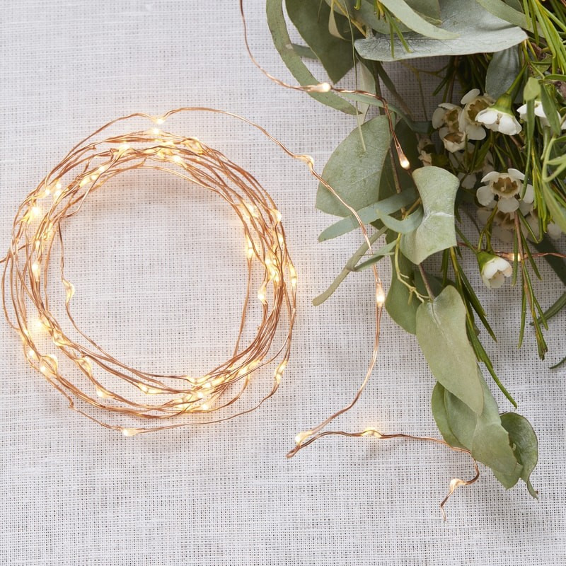 Rose Gold String Lights 11663