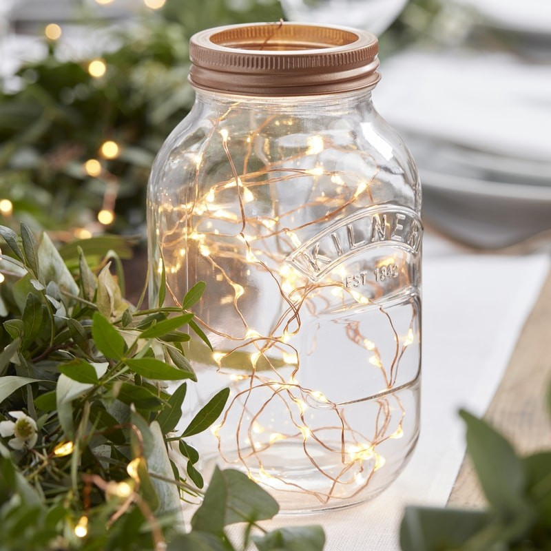 Rose Gold LED String Table Lights